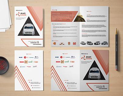 Akash Travels Brochure Design