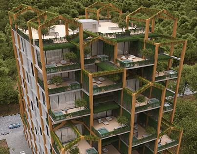 Namakabrud Residential complex by Milad Eshtiyaghi