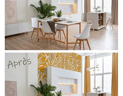 Projet décoration: incrustation papier peint