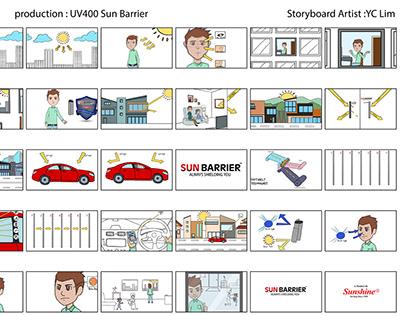 UV400 Sun Barrier's Story Board