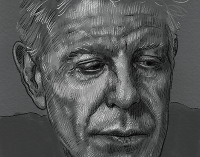 Anthony bourdain sketch