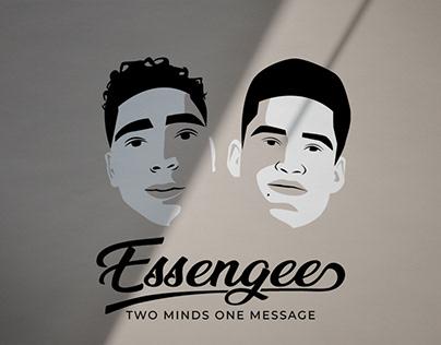 Men Podcast Branding Logo Design