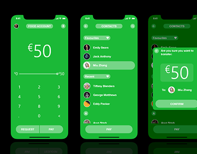 Money sending/requesting app design