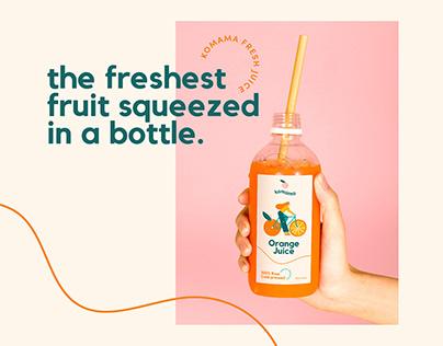 Komama Juice Branding