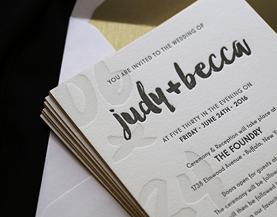 Letterpress Wedding Set