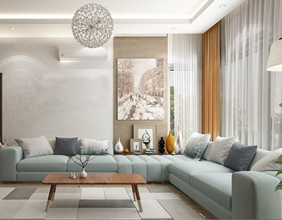 Living Room at 5th Settlement- Sodic, Cairo