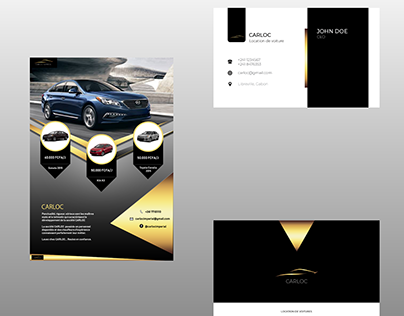 Car rental flyer and business card