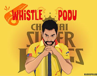 MS Dhoni | Chennai Super Kings | Illustration