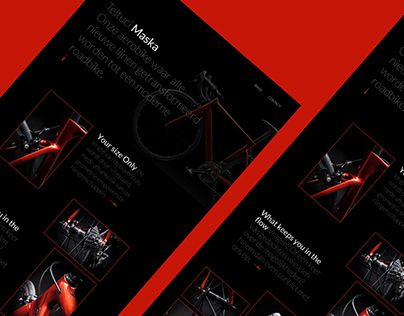 Bike web - redesign