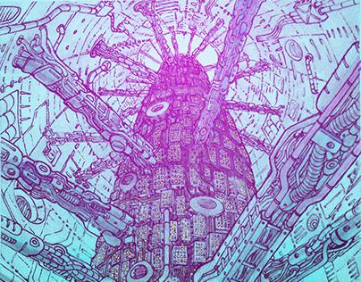 Underground City (Panoramic shot)