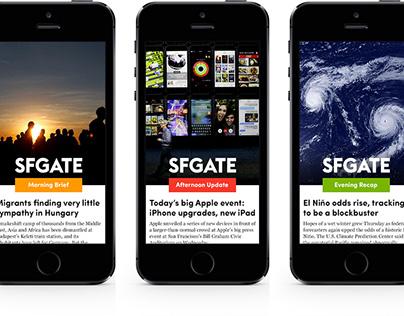 SF Gate: mobile news app prototype