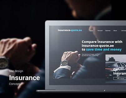 Site design. Main page concept. Insurance