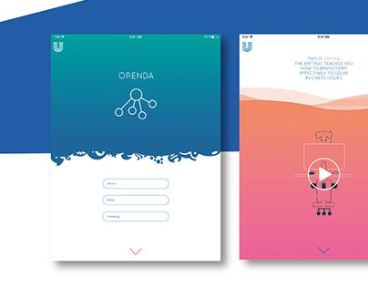 ORENDA - Unilever App - Brainstorming