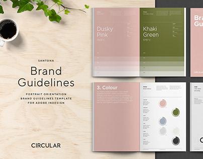 Santona / Brand Guidelines Template - Portrait