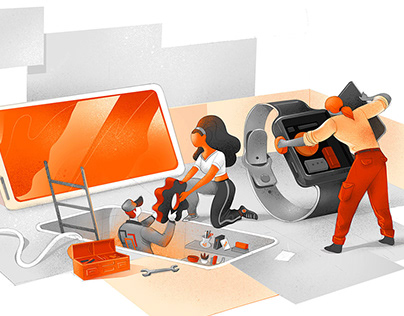 Digital Startup Illustrations