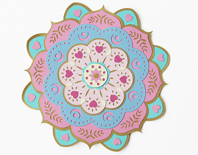 Paper art mandala