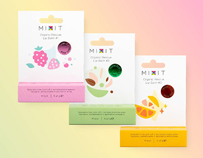 Organic Rescue Lip Balms for Mixit