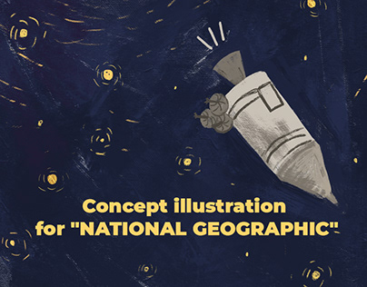 """concept illustration for """"National geographic"""""""