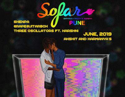 Poster for Sofar Sounds Pune: June 2019.