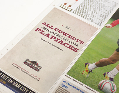 Broken Spur Inn & Steakhouse - Type Ad Campaign