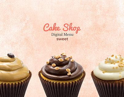 Menu Digital for Cake Shop