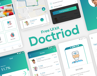 Doctriod Health Care App UI Kit For Free.