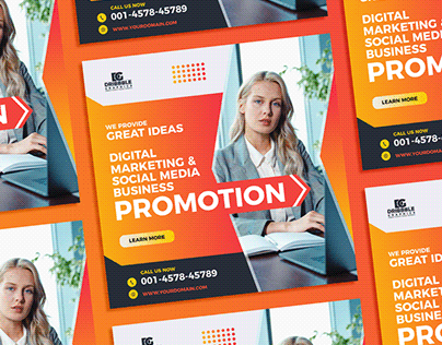 Free Digital Marketing Social Media Banner Template