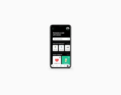 Conceptual UI for COVID-19 mobile app.