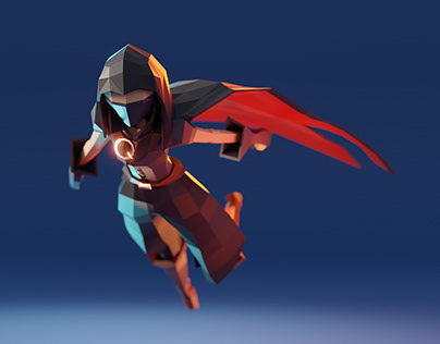 Lowpoly character: thief