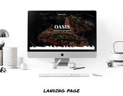 Landing page.Oasis Restaurants