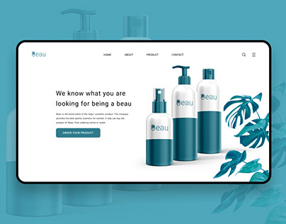 Cosmetic landing page
