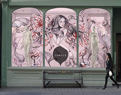 Window Display Feminine Shop
