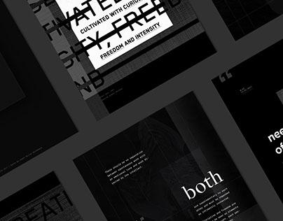 Experimental Typographic Poster Vol. ¹