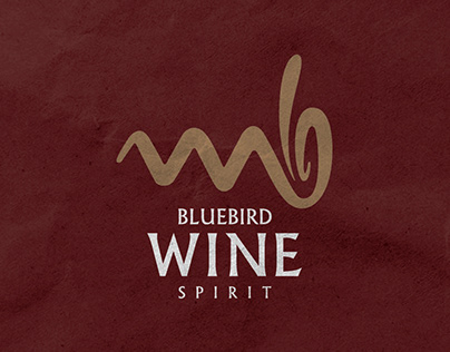 Bluebird Wine & Spirit: Logo & Brand Identity