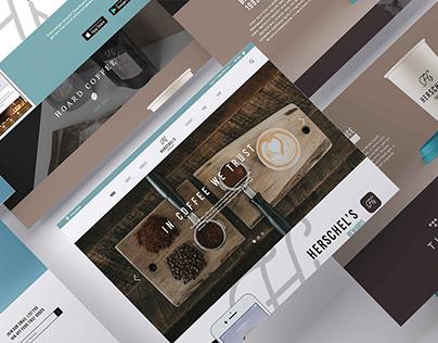 Herschel's Coffee Co Web Design