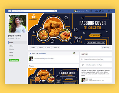Facebook Cover Banner Design .