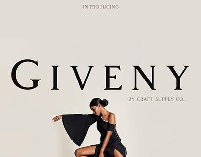 Giveny - Classy Serif Font (Free Download)