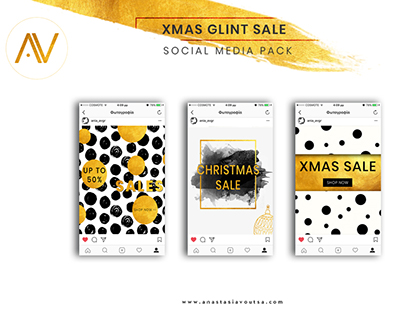 XMAS GLINT SALE TEMPLATE FOR SOCIAL MEDIA