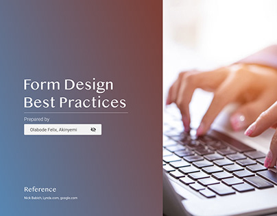 Form design best practices