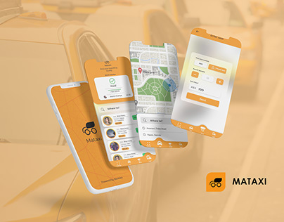Mataxi Brand and Mobile App UI Design