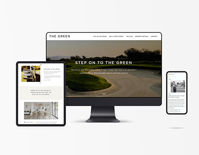 The Green // Golf + Property Website