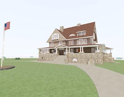 TYLER HOUSE, EASTERN POINT BEACH, GROTON, CT.