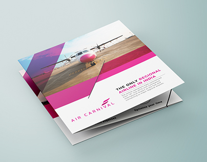 Domestic AIrline - Tri Fold Square Brochure