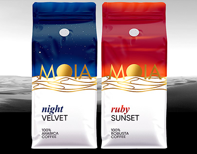 """""""MOIA"""" COFFEE. Packaging Design."""