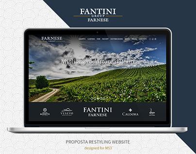 Farnese Vini | Proposta restyling website