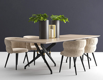 Potocco Torso Table 837-TR And Coulisse Armchair