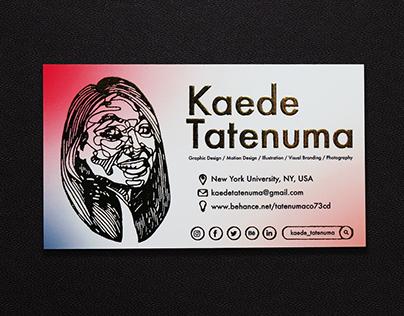 Business Cards Design for Kaede Tatenuma