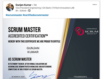 Scrum Institute, Official Scrum Training, Certification