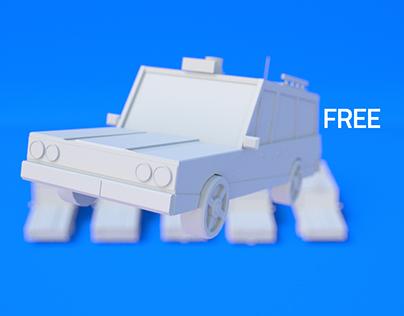 Lowpoly Cars (Free 3D Models)