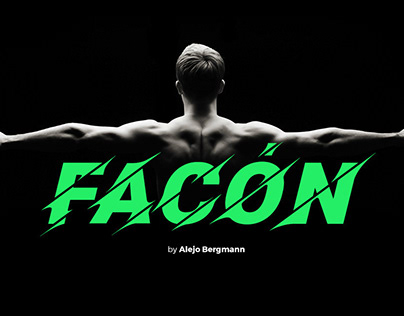 FACÓN - FREE ATHLETIC DISPLAY FONT